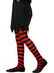 Collants de sorcière Rouge/Noir
