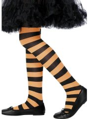 Collants de sorcière Orange/Noir
