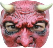 Demi Masque Diable en Latex