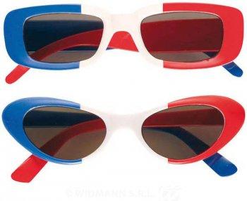 Lunettes Tricolores Bleu Blanc Rouge