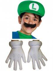 Set Accessoires Luigi - Casquette, Moustache, Gants - Enfant