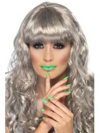 Vernis et Rouge à lèvres Vert pailletté