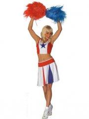 Déguisement de Pom-Pom Girl Tricolore Taille M