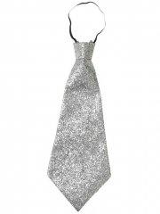 Cravate pailletée Argent