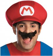 Set Accessoires Mario - Casquette et Moustache - Adulte