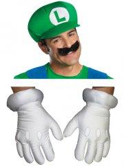 Set Accessoires Luigi - Casquette,Moustache,Gants - Adulte