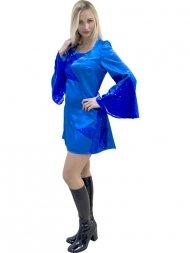 Robe Disco Queen Bleu