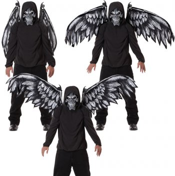 Kit Ange Déchu Masque avec Ailes articulées