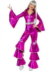 Déguisement Dancing Dream Disco rose 70's
