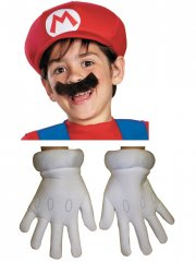Set Accessoires Mario (Casquette, Moustache, Gants) - Enfant