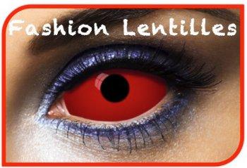 Lentilles Sclera Rouges unies (1 an)