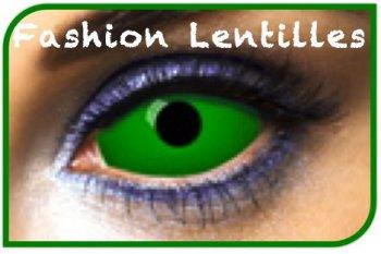 Lentilles Sclera Vertes unies (1 an)