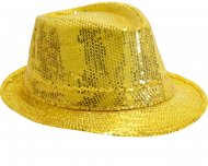Chapeau Disco Pailettes Or