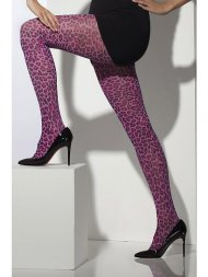 Collants Leopard Rose