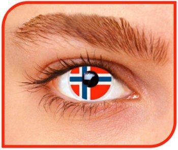 Lentilles Drapeau Norvège (1 mois)