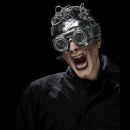 Masque Lunettes et Casque Steampunk Imitation Métal - PVC