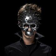 Demi Masque Squelette à Clous imitation métal - PVC