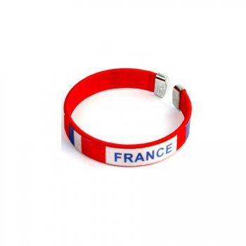 Bracelet Supporter France Rouge