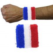 2 Poignets Eponges Tricolores France