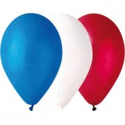 Lot de 100 Ballons Tricolores