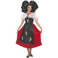 Costume Traditionnel Alsacienne (avec Coiffe)