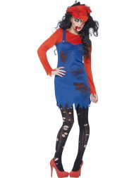 Déguisement Femme Plombier Zombie Taille S