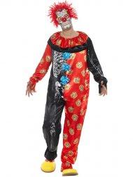 Déguisement Clown Dia De Los Muertos Luxe