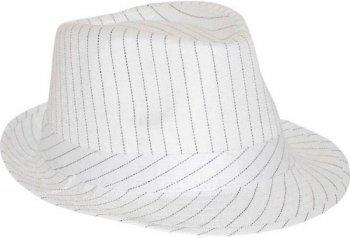 Chapeau de Gangster - Rayé Blanc et Noir