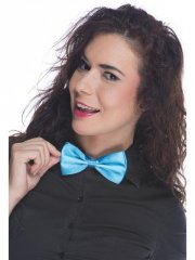 Noeud de Papillon Satin Bleu Flashy