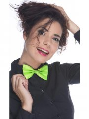 Noeud de Papillon Satin Vert Flashy
