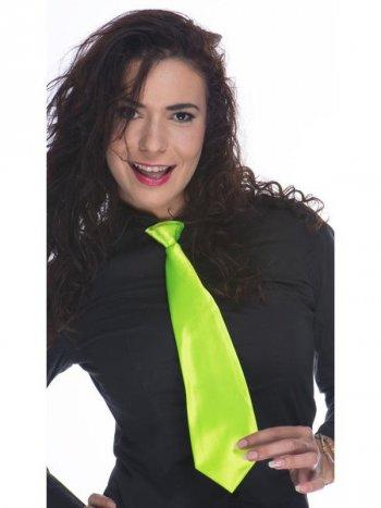 Cravate Satin Vert Flashy