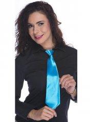 Cravate Satin Bleu Flashy