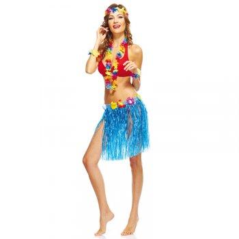 Jupe Hawaienne courte Bleu