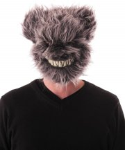 Masque Ours Effrayant Velu Gris