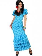 Déguisement de Danseuse Flamenco bleu