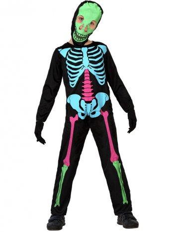 Déguisement de Squelette fluo