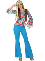 Déguisement de Hippie Psychédélique - Femme