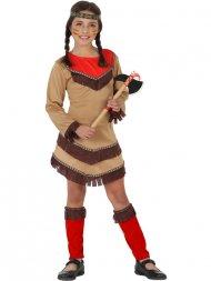 Déguisement d'Indienne Apache Rouge