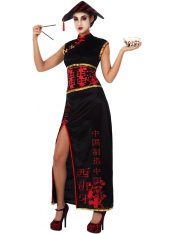 Déguisement de Chinoise Glamour Taille XL