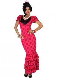 Déguisement de Danseuse Flamenco Rose/Rouge