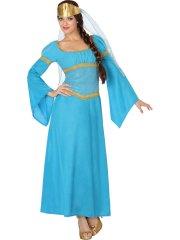 Déguisement Reine Médiévale Bleue