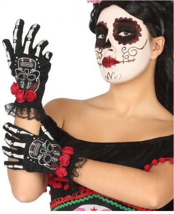 Gants Calavera Halloween