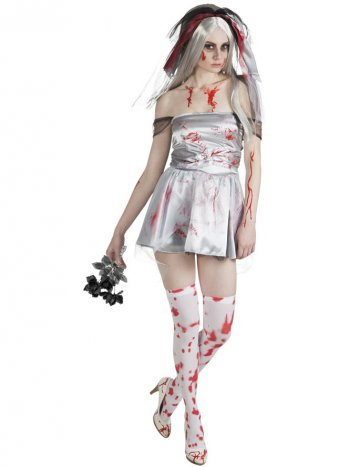 Déguisement Mariée Zombie Satin