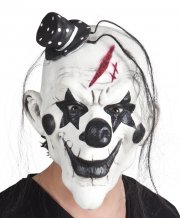Masque Intégral Clown Pycho Noir et Blanc - Latex