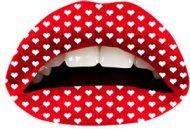 Tatouage de lèvres Coeur Rouge