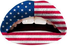 Tatouage de lèvres Américan Party