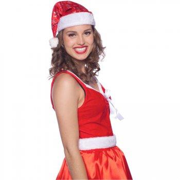 Bonnet Père Noël Flocons