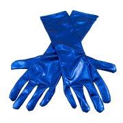 Gants Longs (40 cm) - Bleu métal