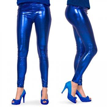 Legging Bleu Métal Taille S-M