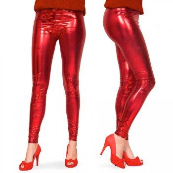 Legging Rouge Métal S-M
